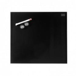 NOBO Diamond Tableau en Verre Magnétique 450 x 450 mm NOIR Marqueur Aimants et Kit de Montage Inclus