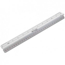 WESTCOTT Règle longueur 300 mm aluminium avec poignée