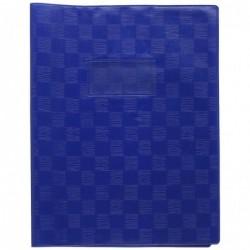 CALLIGRAPHE Protège-cahier Madras PVC 22/100e Avec Rabat Marque page 24x32 bleu