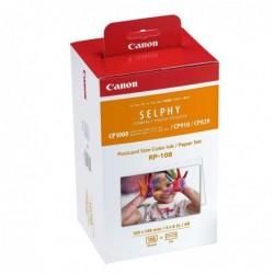 CANON Cartouche RP-108 Encre couleur + 108 Feuilles format carte postale