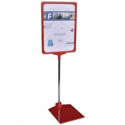 FRANKEN Porte-infos / support prix, DIN A4, rouge