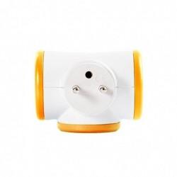WATT & CO Bloc prise TRIPLITE 3X16A rotatif orange