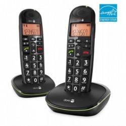 DORO Téléphones Sans fil EASY 100W DUO, noir