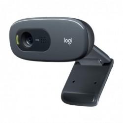 LOGITECH Webcam HD 720p pour ordinateur, correction de la lumière, micro antiparasites, noir