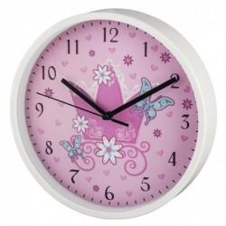 """HAMA Horloge murale pour enfant """"Couronne"""" Ø 22,5cm silencieuse"""