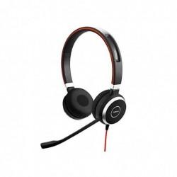 GN NETCOM Casque Evolve 40 UC Stereo, Jack 3,5 mm, noir