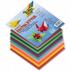 FOLIA Feuilles de papier origami à plier, 190 x 190 mm,