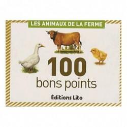 EDITIONS LITO Lot de 100 bons points : Les Animaux de la Ferme