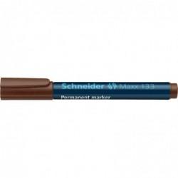 SCHNEIDER Marqueur permanent Maxx 133 Pte Biseau 1-4 mm brun