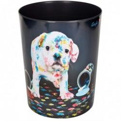"""LÄUFER Corbeille à papier """"chien multicolore"""" PP 13 L"""