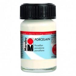 MARABU Peinture spéciale Porcelaine flacon 15 ml Blanc