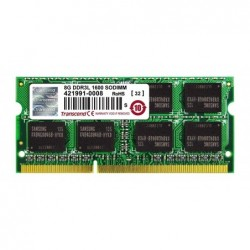 TRANSCEND Mémoire TRANSCEND SODIMM 2Rx8 DDR3L PC3-12800/1600MHz 8Go
