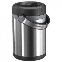 EMSA Récipient alimentaire Mobility 1,7L 2 compartiments chaud 6h froid 12h en acier PP noir anthracite