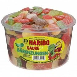 HARIBO Bonbons gélifiés aux fruits Langues acides,150 pièces