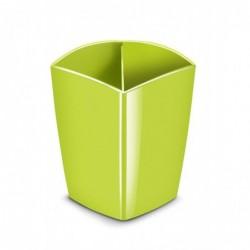 CEP Pot à crayons magnétique, 2 compartiments, vert anis
