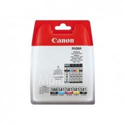 CANON Pack 5 cartouches d'encre PGI-580 / CLI-581