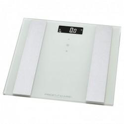 PROFICARE Balance d'analyse en verre 8en1 PC-PW 3007 FA blanc-acier inoxydable