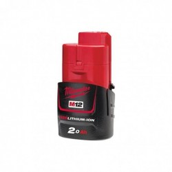 MILWAUKEE M12B2 Batterie MILWAUKEE 12 V et 2 Ah Red Li-Ion