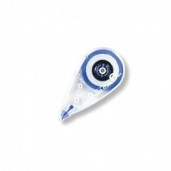 PLUS JAPAN Roller de Correction Mini 7m x 5mm Jetable Bleu