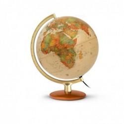 """WONDAY Globe terrestre lumineux 30 cm """"Premium"""" Antique"""
