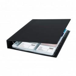 SIGEL classeur Porte-cartes de visite à 2 rangs 400 Cv 90 x 58 mm Noir Mat