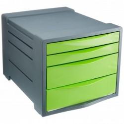ESSELTE Bloc à 4 tiroirs Vivida vert