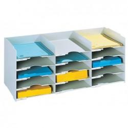 PAPERFLOW Bloc classeur 3x5 cases pour doc A4 Capacité 500 feuilles