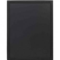 SECURIT Tableau Ardoise UNIVERSAL Avec Cadre Bois 90 x 70 cm Noir
