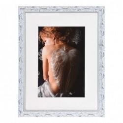 HENZO Cadre Chic Baroque blanc   30x40 bois