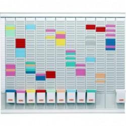 NOBO Kit Tableau Planning à Fiches T Annuel 13 Colonnes 32 Fentes ( 12 Mois)