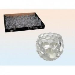 photophore boule en cristal 7.5*6 cm - 350028