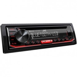 JVC KD-T702BT Autoradio CD Bluetooth Tuner Audio USB et Spotify Control Rouge 4 x 50 W