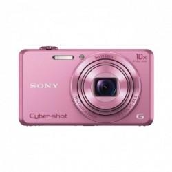 """SONY DSC-WX220P Appareil photo numérique compact Ecran 2,7"""" 18,2 Mpix Zoom optique 10x Rose"""