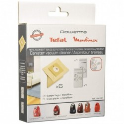 ROWENTA Pochette 6 sacs papier + 2 microfiltre Compactéo