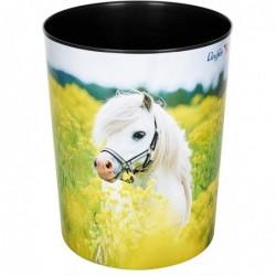 """LÄUFER Corbeille à papier """"cheval dans un champ de colza"""" 13 Litres H 30 cm"""