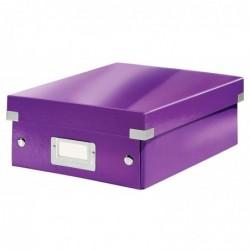 LEITZ Boîte de rangement Click & Store WOW, petit, violet