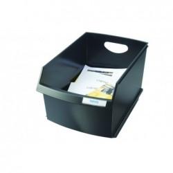 HAN Corbeille à papier LOGO DRIVE, 25 litres, carré, noir