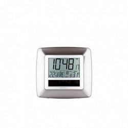 TECHNOLINE WS 8112 Horloge Murale Radiocommandée Solaire Argent