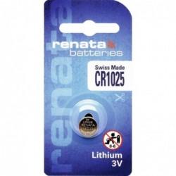 RENATA Blister de 1 Pile bouton lithium CR1025 3V 30 mAh