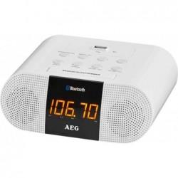 AEG Radio-Réveil MRC 4132, Bluetooth, blanc