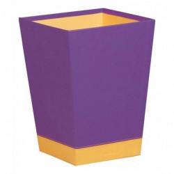 RHODIA Rhodiarama Corbeille à Papier Simili Cuir 27x27x32 cm Violet Orange