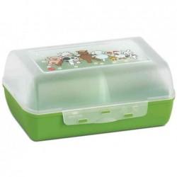 EMSA VARIABOLO Boîte à goûter enfant, cloisons amovible, 16x11x7cm Vert