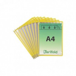 TARIFOLD tdisplay Plaque pochette pivotante, A4, jaune lot 10