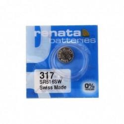 RENATA Blister de 1 Pile bouton oxyde argent X317 SR516SW