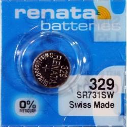 RENATA Blister de 1 Pile bouton oxyde argent X329 SR731SW