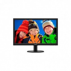 PHILIPS 243V5LHSB  Écran LED  23.6 pcs  16/9  1920 x 1080  HDMI/DVI-D/VGA noir