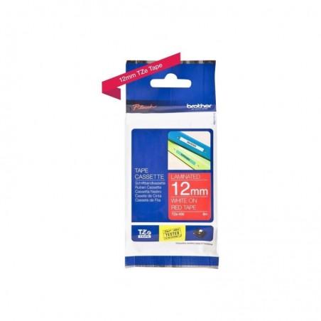 BROTHER cassette à ruban TZe-435 Largeur: 12 mm blanc / rouge brillant