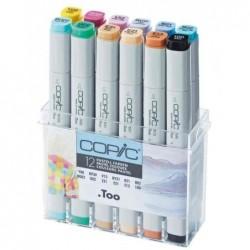 COPIC kit de 12 Marqueur Professionnel Alcool Double Pointe couleurs pastel