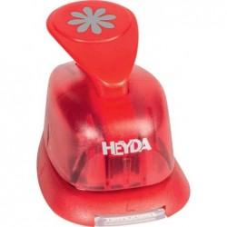 """HEYDA Perforatrice à motif """"coeur élégant"""" 13x14 mm Rouge"""