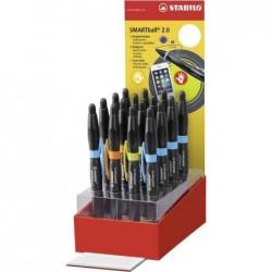 STABILO Stylet/stylo SMARTball 2.0 L + R, présentoir de 16